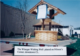 A full sized Wishing Well, made by Marshall Winegar was another of the fund raising efforts. Lottery tickets were sold at $2.00 each or three tickets for $5.00.