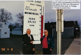 A huge street thermometer registered fund raising progress. It was prominently displayed for all Clear Lake residents to see. It created tremendous enthusiasm.